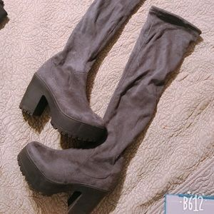 Thigh High Boots (Gray) (6)